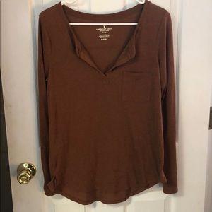 AE long sleeve rust/brown/orange